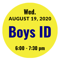 Boys AGS College ID Session Icon August 19, 2020 6 pm