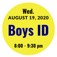 Boys AGS College ID Session Icon August 19, 2020 8 pm